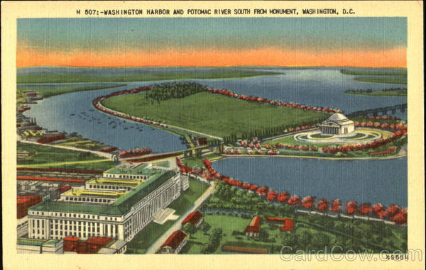 Washington Harbor And Potomac River South From Monument District of Columbia