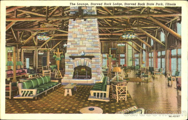 The Lounge Starved Rock Lodge, Starved Rock State Park Quincy Illinois