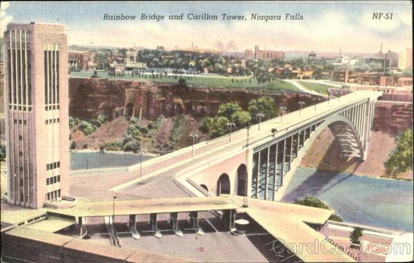 Rainbow Bridge And Carillon Tower Niagara Falls Ny
