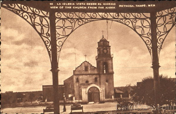 View Of The Church From The Kiosk Reynosa Mexico