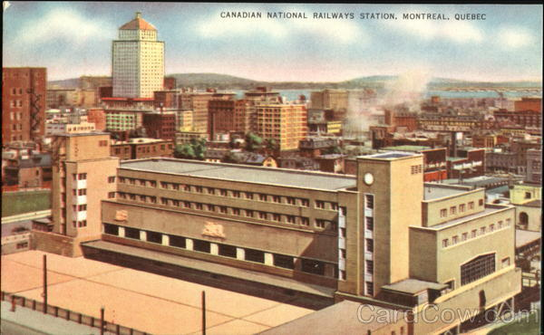 Candian National Railways Station Montreal Canada Quebec
