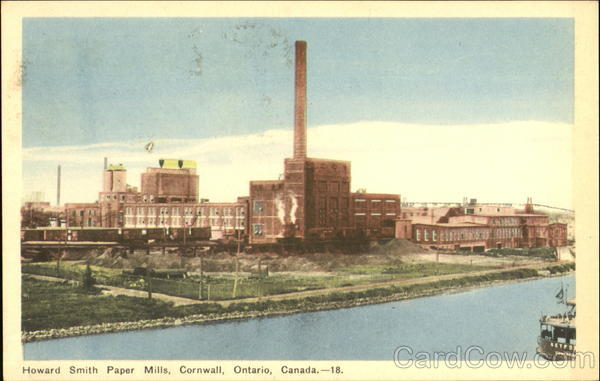 Howard Smith Paper Mills Cornwall Canada Ontario