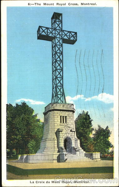 The Mount Royal Cross Montreal Canada Quebec