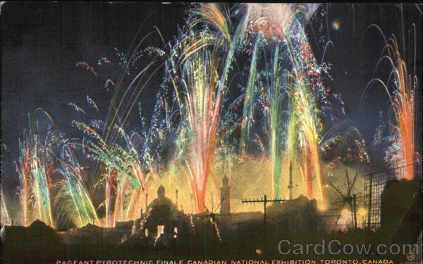 Pagfant Pyrotechnic Finale Canadian National Exhibition Toronto Canada