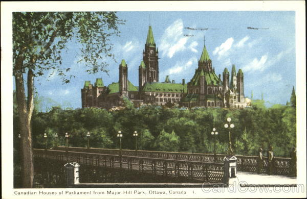 Canadian Houses Of Parliament From Major Hill Park Ottawa Canada
