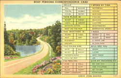 Busy Persons Correspondence Card