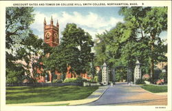 Grecourt Gates And Tower On College Hill, Smith Collge