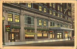 Entrance To Carter Hotel Postcard
