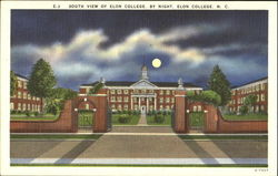 South View Of Elon College By Night