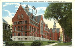 Williams Science Hall, University of Vermont Postcard