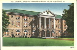 Junior Hall One Of The Dormitories Of Madison College
