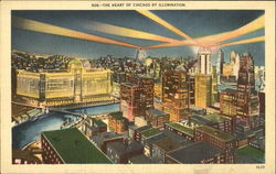 The Heart Of Chicago By Illumination Postcard