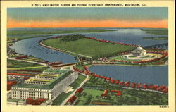 Washington Harbor And Potomac River South From Monument