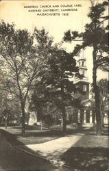 Memorial Church And College Yard, Harvard University Postcard