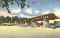 Typical Toll Plaza New Jersey Turnpike