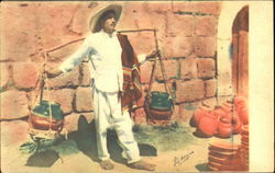 The Typical Pottery Vender Postcard