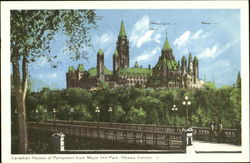 Canadian Houses Of Parliament From Major Hill Park