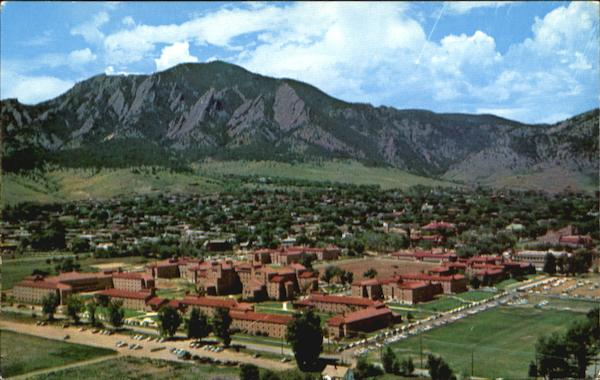 Aerial View Of The Residence Halls, University of Colorado Campus Boulder