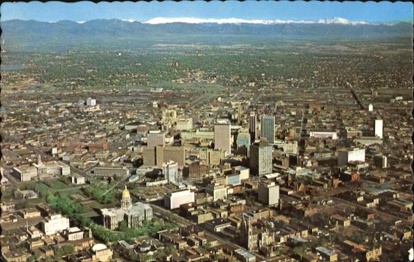 Air View Of Downtown Denver Colorado