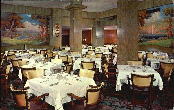 Sylvan Room The Pick-Roosevelt Hotel, Sixth Street and Penn Avenue Pittsburgh Pennsylvania