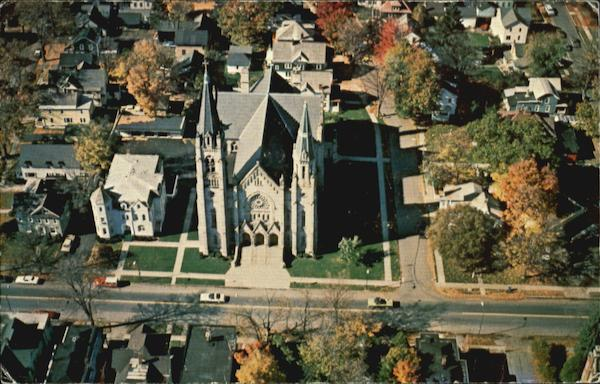 Aerial View Of St. Mary's Church, 46 Main St Cortland New York