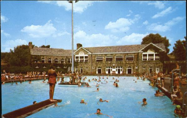 The Swimming Pool And Pine Room, Crispin Center in Oglebay Park Wheeling West Virginia