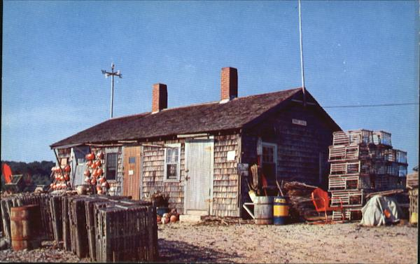 A Typical Lobster Shack In Maine