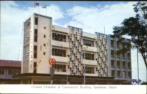 Chinese Chamber Of Commerce's Building, Sandakan Sabah Malaysia