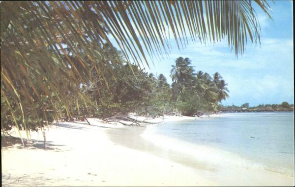 Beach Scene Trinidad & Tobago Caribbean Islands