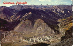 A Breathtaking View Of This Once Prosperous Mining Town Postcard