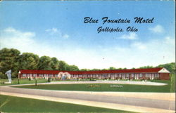 Blue Fountain Motel, North on U. S. Route 35 and State Route 7 Postcard
