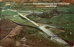 Schuylkill Expressway and Valley Forge Interchange