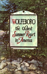 Sign Entering Wolfeboro