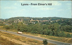 The County Seat Of Wayne County, View From Elmer's Hill