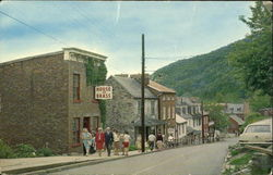 Looking Down High Street In Harpers Ferry