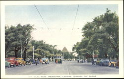 St. Kilda Road, Melbourne, Looking Towards The Shrine