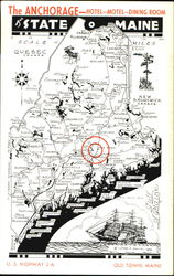 Road Map Of Maine The Pine Tree State, U. S. Highway 2-A