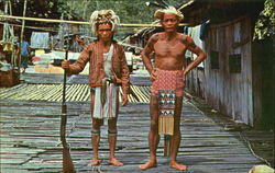 Male Subjects Of The Sea Dayak