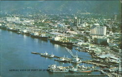 Aerial View Of Port Of Spain