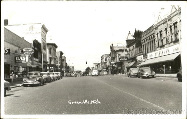 Main Street Scene Greenville Michigan