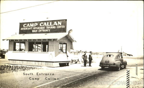 South Entrance Camp Callan California Army