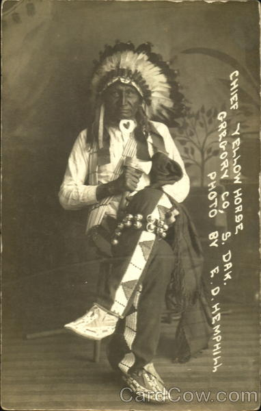 Chief Yellow Horse Gregory Co South Dakota Native Americana