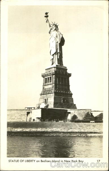 Stature Of Liberty On Bedloes Island New York City
