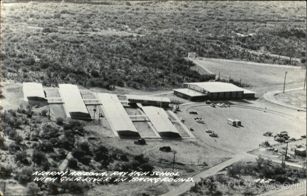 Ray High School With Gila River In Background Kearny Arizona