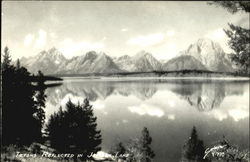Tetons Reflected In Jackson Lake