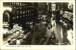 Times Square At Night Postcard