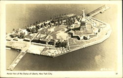Aerial View Of The Statue Of Liberty Postcard