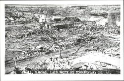 Laid Waste By Tornado May 25 1955