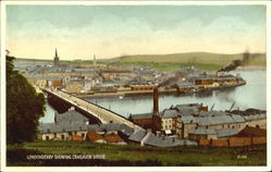 Londonderry Showing Craigavon Bridge Postcard