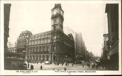Post Office & Bourke Street, Bourke Street Postcard